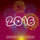Happy New Year 2016 with fireworks background. Vector Stock Image