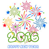Happy New Year 2016 with fireworks background. Vector Royalty Free Stock Image