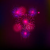 Happy New Year with fireworks background. Vector illustration Royalty Free Stock Photography