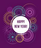 Happy New Year, Fireworks and celebration poster. Happy New Year, Fireworks and celebration background, poster, banner Royalty Free Stock Image