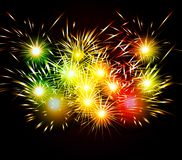Happy New Year Fireworks colorful.  Stock Images