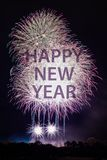 Happy New Year with fireworks Royalty Free Stock Image