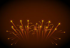 Happy New Year fireworks. Easy all editable Stock Images
