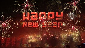 Happy new year Fireworks explosion Royalty Free Stock Image