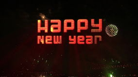 Happy new year Fireworks explosion Royalty Free Stock Photo