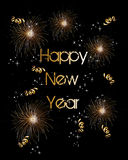 Happy new year 2014 fireworks greeting card Stock Images