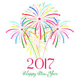 Happy new year fireworks 2017 holiday background design. Happy new year fireworks 2017 holiday background Stock Photos