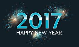 Happy New Year 2017 fireworks illustration. Happy New Year 2017. Vector illustration with firework royalty free illustration
