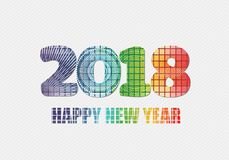Happy new year 2018 fireworks theme Royalty Free Stock Photo