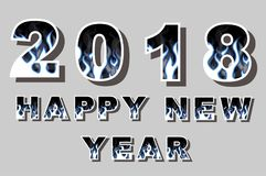 2018 happy new year flames style for web. 2018 happy new year flames style Stock Photos