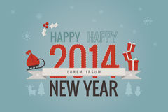 Happy new year. Flat design background Royalty Free Stock Image
