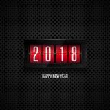 Happy new year 2018. Flip board clock 2018. Happy new year concept vector illustration