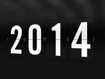 Happy New Year 2014. New Year 2014 in Flip Cards Royalty Free Stock Photo
