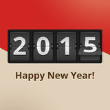 Happy New Year 2015 on flip clock. Happy New Year 2015 numbers on flip clock vector illustration Stock Photos
