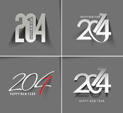 Happy new year 2014. Floral Design vector illustration