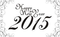 Happy new year 2015_floral Stock Images