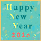 Happy New Year with floral pattern Stock Photography