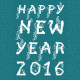 Happy New Year with floral pattern Royalty Free Stock Photography