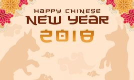 Happy new year with flower background. Vector illustration Royalty Free Stock Photo