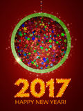 Happy 2017 New Year Flyer. Christmas Greeting Card. Vector illustration Royalty Free Stock Photo