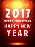 Happy 2017 New Year Flyer. Christmas Greeting Card. Vector illustration Royalty Free Stock Image