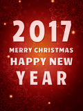 Happy 2017 New Year Flyer. Christmas Greeting Card. Vector illustration Stock Photo