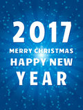 Happy 2017 New Year Flyer. Christmas Greeting Card. Vector illustration Royalty Free Stock Images