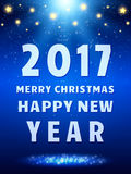 Happy 2017 New Year Flyer. Christmas Greeting Card. Vector illustration Stock Image
