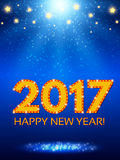 Happy 2017 New Year Flyer. Christmas Greeting Card. Vector illustration Stock Images