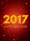 Happy 2017 New Year Flyer. Christmas Greeting Card. Vector illustration Stock Photos