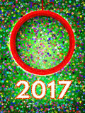 Happy 2017 New Year Flyer. Christmas Greeting Card. Vector illustration Royalty Free Stock Photos