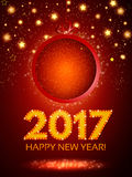 Happy 2017 New Year Flyer. Christmas Greeting Card. Vector illustration Stock Photography