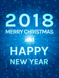 Happy 2018 New Year Flyer. Christmas Greeting Card. Vector illustration Royalty Free Stock Photography