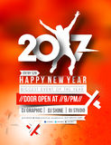 Happy new year 2017 Flyer & Poster Stock Photography