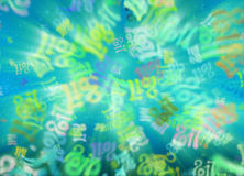 Happy new year 2017 flying digits numbers written with light on bright bokeh background. 3d illustration.  Stock Photography