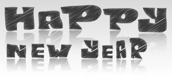 Happy new year font. By  eps10 Royalty Free Stock Images