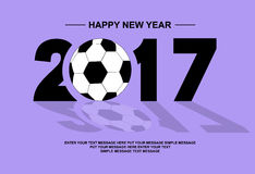 2017 happy new year footbal. L for web Stock Photo