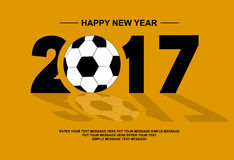 2017 happy new year footbal for web and other Stock Photography