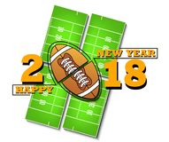 Happy new year and football Stock Image