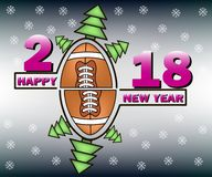 Happy new year and football Stock Photo