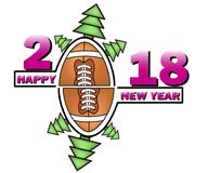 Happy new year and football Royalty Free Stock Photo