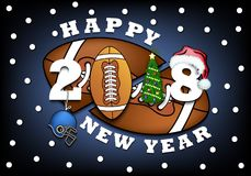 Happy new year and football Royalty Free Stock Photos