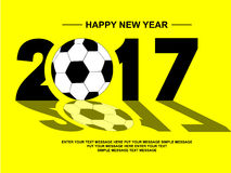2017 happy new year football simple for web Royalty Free Stock Images
