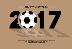 2017 happy new year football style Royalty Free Stock Images