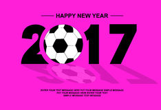2017 happy new year football Stock Photo