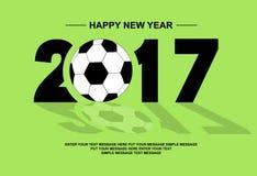 2017 happy new year football Stock Photo