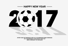 2017 happy new year football. For web Stock Images