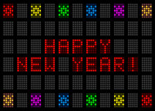 Happy New Year in the form of LED digital fonts Stock Images