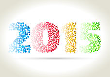 Happy new year. 2015 - four different dotted color number with shadow on light background Vector Illustration