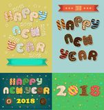 New Years Cars with Sweet Donuts royalty free stock photo